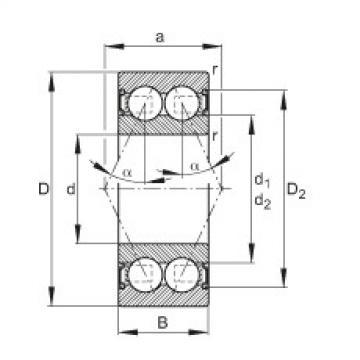 FAG Rolamento angular - 3008-B-2RS-TVH