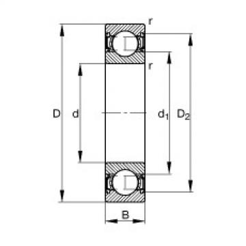 FAG Rolamento de esferas - S61905-2RSR