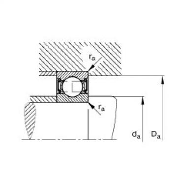 FAG Rolamento de esferas - 61808-2RSR