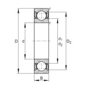 FAG Rolamento de esferas - 61807-2RSR