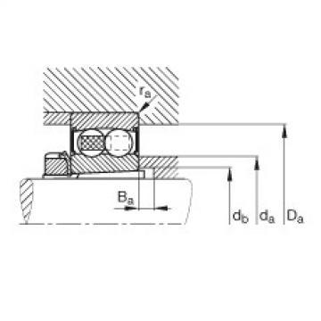 FAG Rolamento autocompensador de esferas - 2208-K-2RS-TVH-C3 + H308