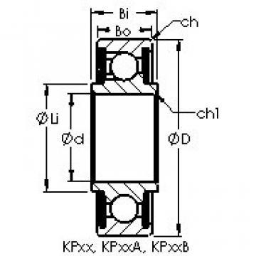 Rolamentos KP20A AST