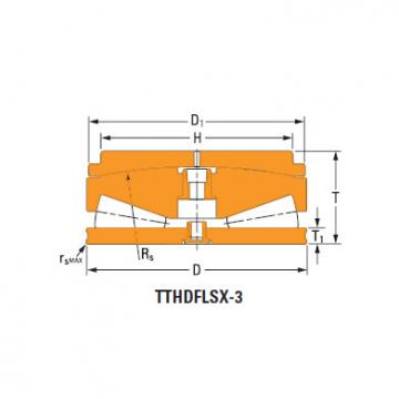 Sistemas de parafusos empurrar rolamentos cônicos T1120fs-T1120s