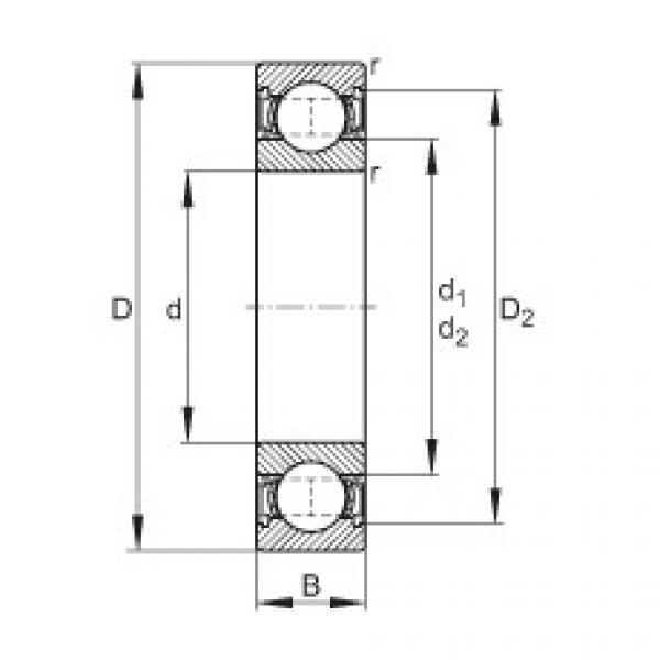 FAG Rolamento de esferas - 61808-2RSR #1 image